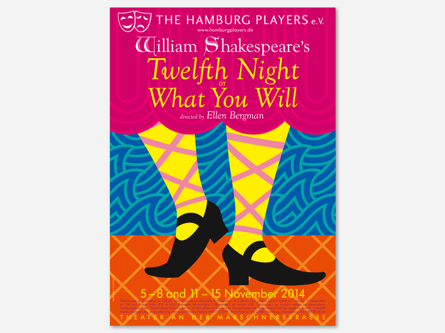 Poster für Shakespeares Twelfth Night